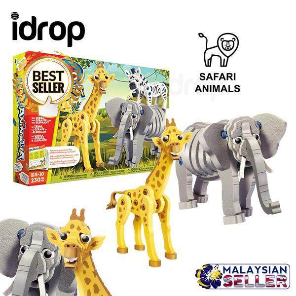 idrop Giraffe/Elephant Wild Safari Animals Foam EVA Building Block Toy Set For Kids And Children Toys for boys - Giraffe