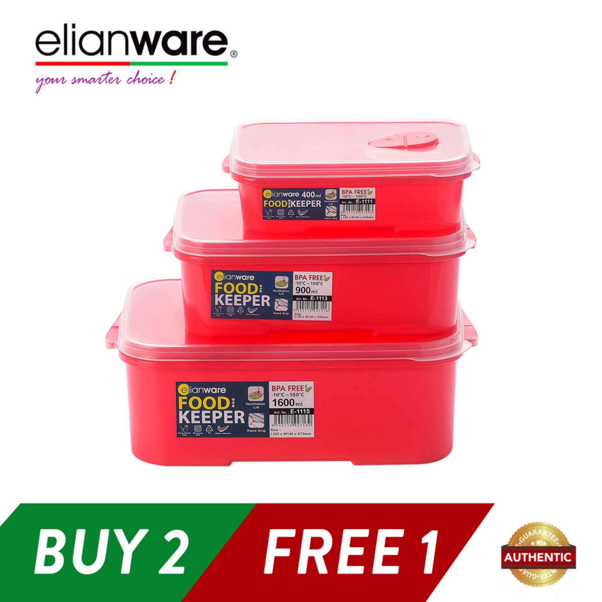 Elianware 3 Pcs BPA Free Special Food Keeper Set Microwavable Food Container