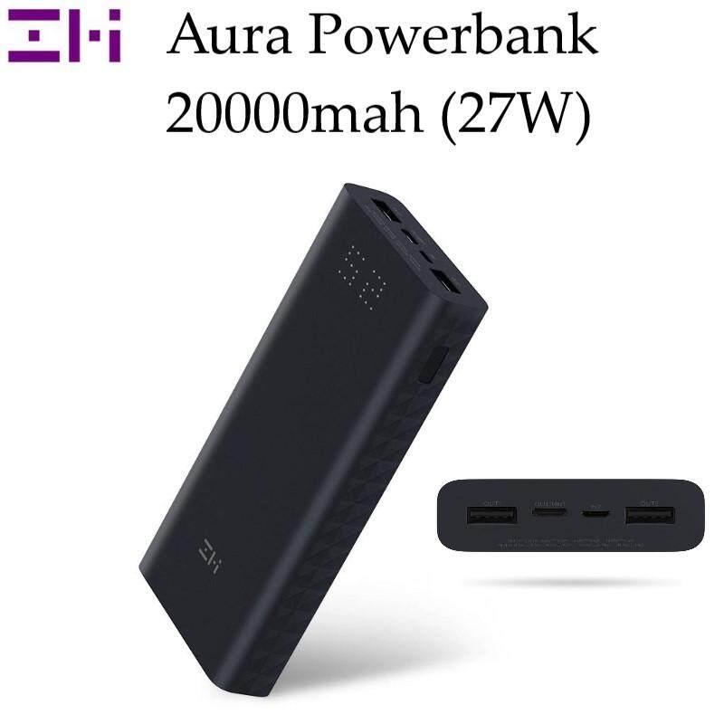 [ORIGINAL] Xiaomi ZMI Aura 20000mAh  27W Dual USB Digital Display QC3.0 Powerbank with Micro and Type-C Input - Black