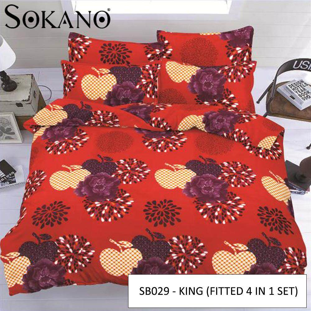 SOKANO SB Series Premium Fitted Bedsheet Set Cadar Tilam (4 in 1 Set)