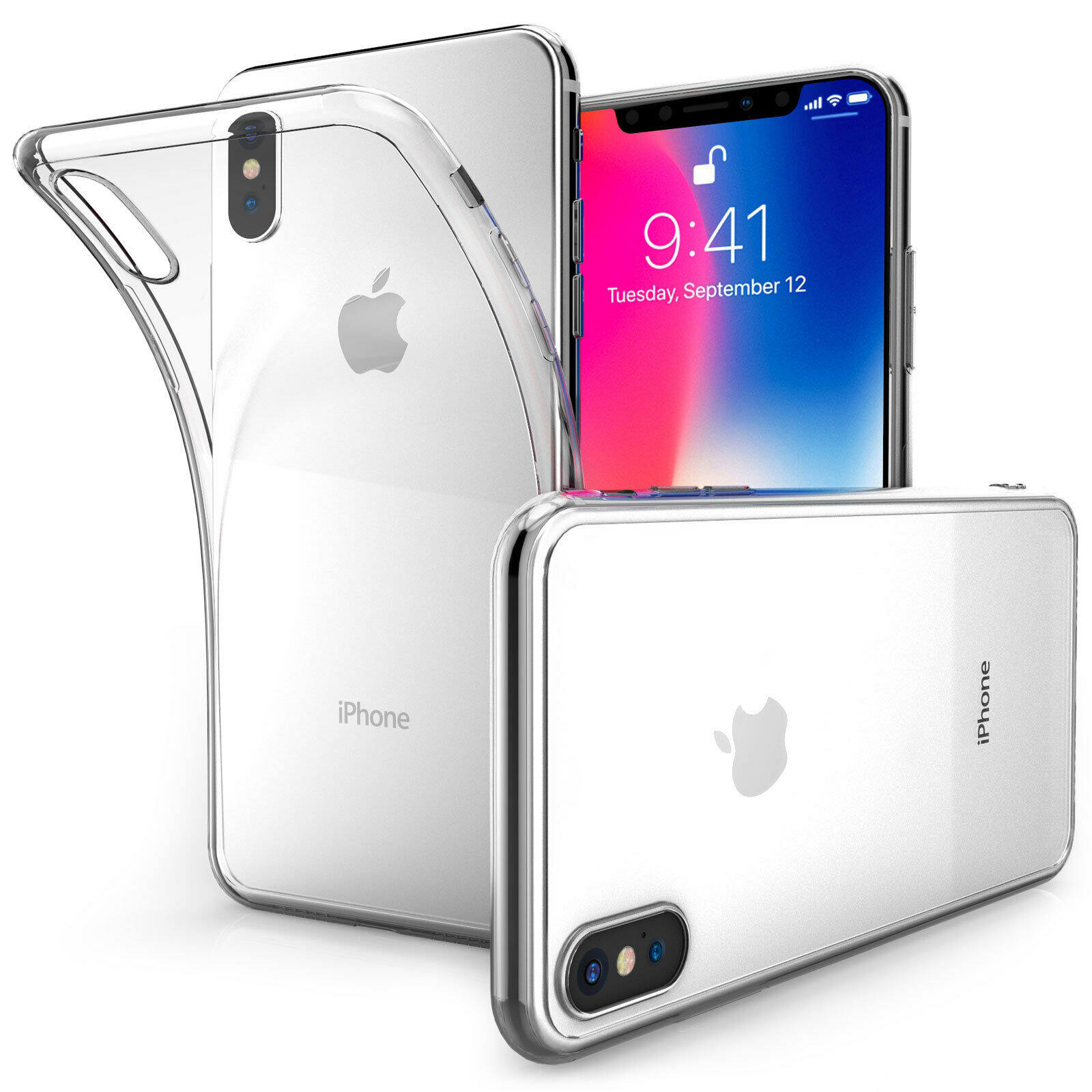 TPU Silicone Case for Iphone X (Transparent)