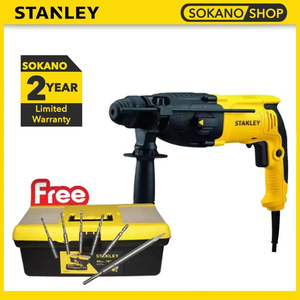 STANLEY SHR263KA 26MM 3 Modes SDS-Plus Rotary Hammer 800W + FREE GIFT STANLEY STST73696-8 Tools Box