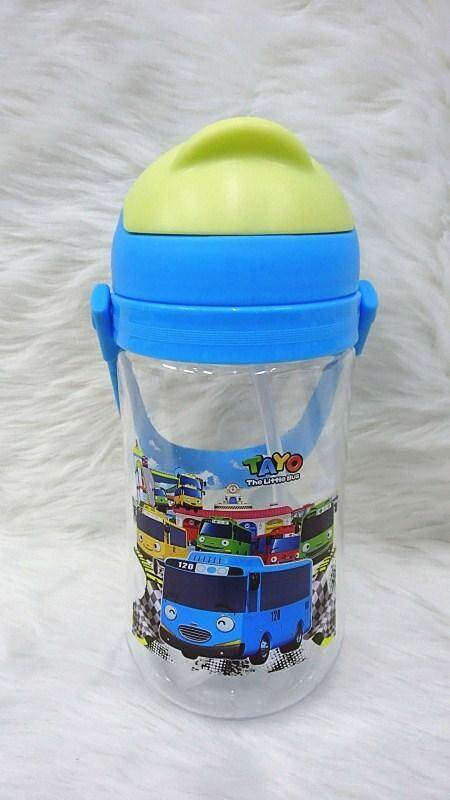 650ML Cartoon Water Bottle Kids Drinking Bottle BPA Free (BGJAYA)-Tayo Bus