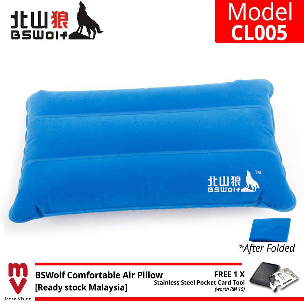 BSWolf Comfortable Inflatable Air Pillow Ultralight TPU Thick Square Outdoor Camping Hiking Sleeping Bag Pillow - CL005 - MI5221