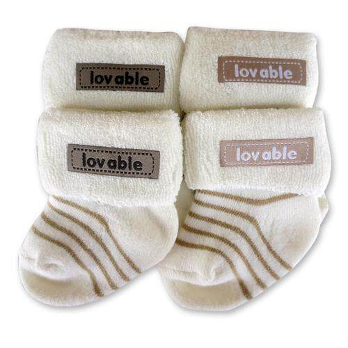 Bumble Bee 2 Pairs Pack Lovable Appliques Socks