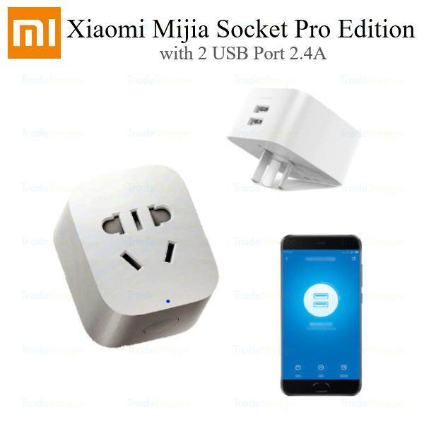 Original Xiaomi Mijia Smart WIFI Socket Pro Version with 2 USB Charging Port 2.4A