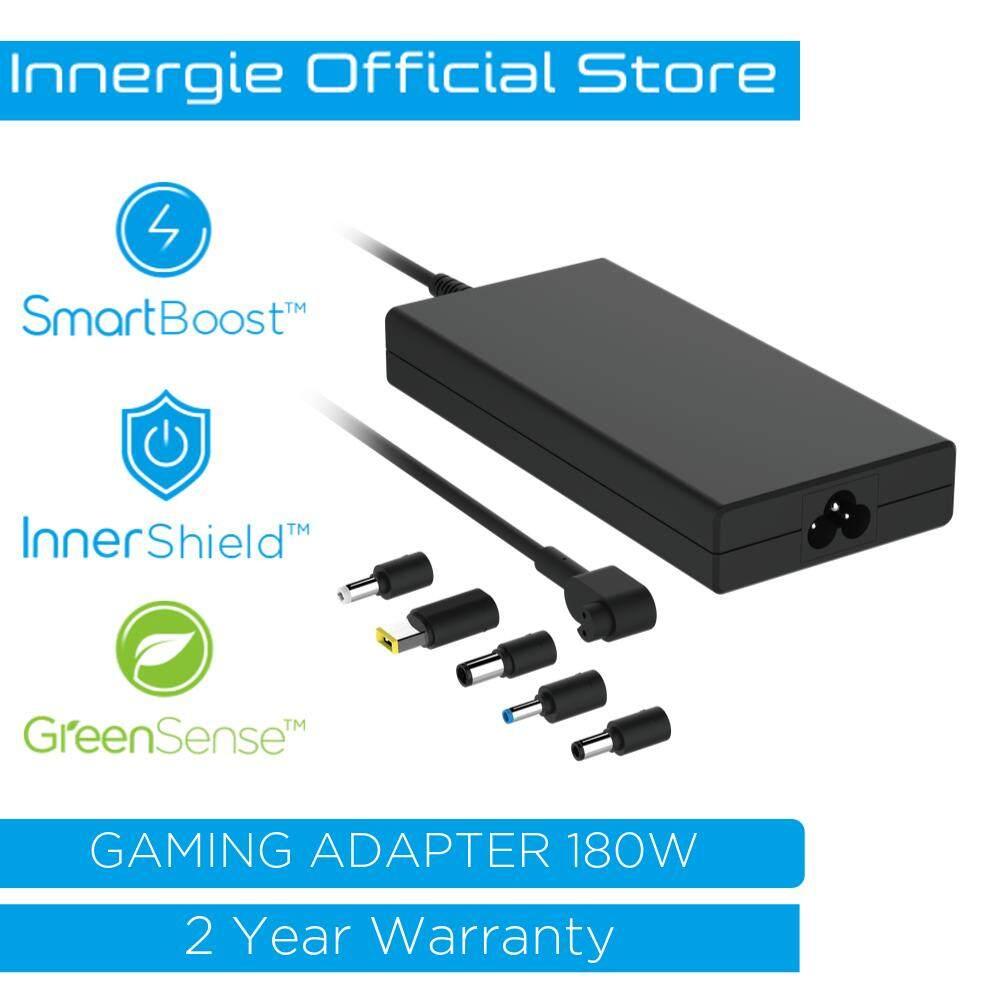 Innergie 180G Gaming Laptop 180W Ultra Slim Charger Power Adapter for MSI Lenovo HP Dell