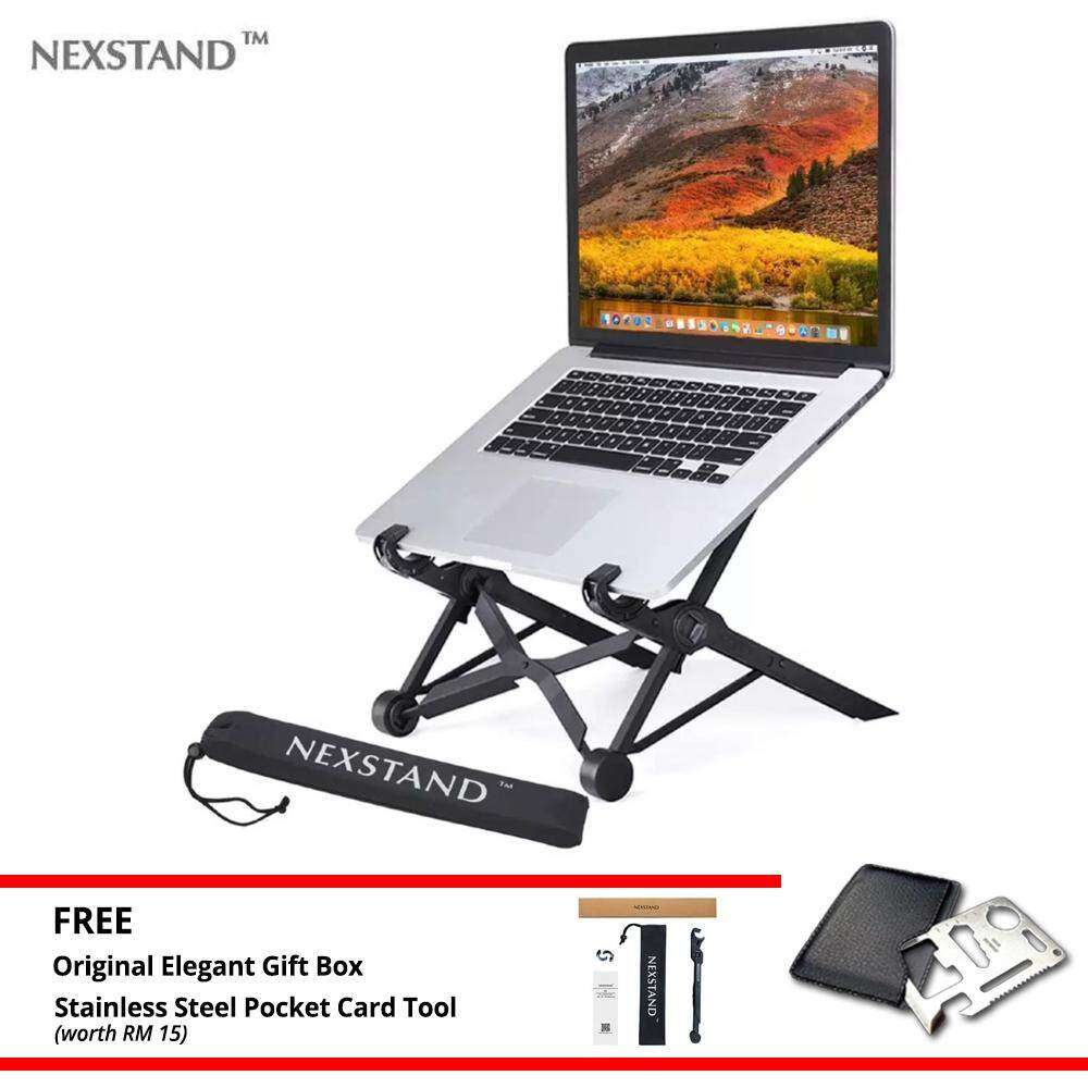 Nexstand K2 Foldable Laptop Stand Portable Notebook Stand Travelling Ergonomic Macbook Ipad Pro