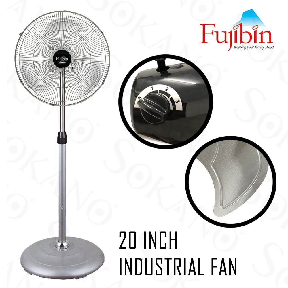 "Fujibin FBS-20 20"" Powerful Industrial Stand Fan Metal Blade"