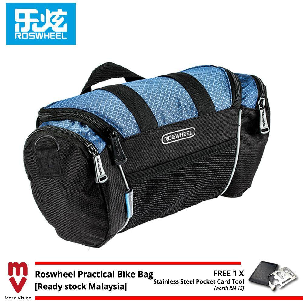 Roswheel Bicycle Bag 5L Cycling Front Handlebar Beg Bike Many Pockets for Storage Tool - MI5211