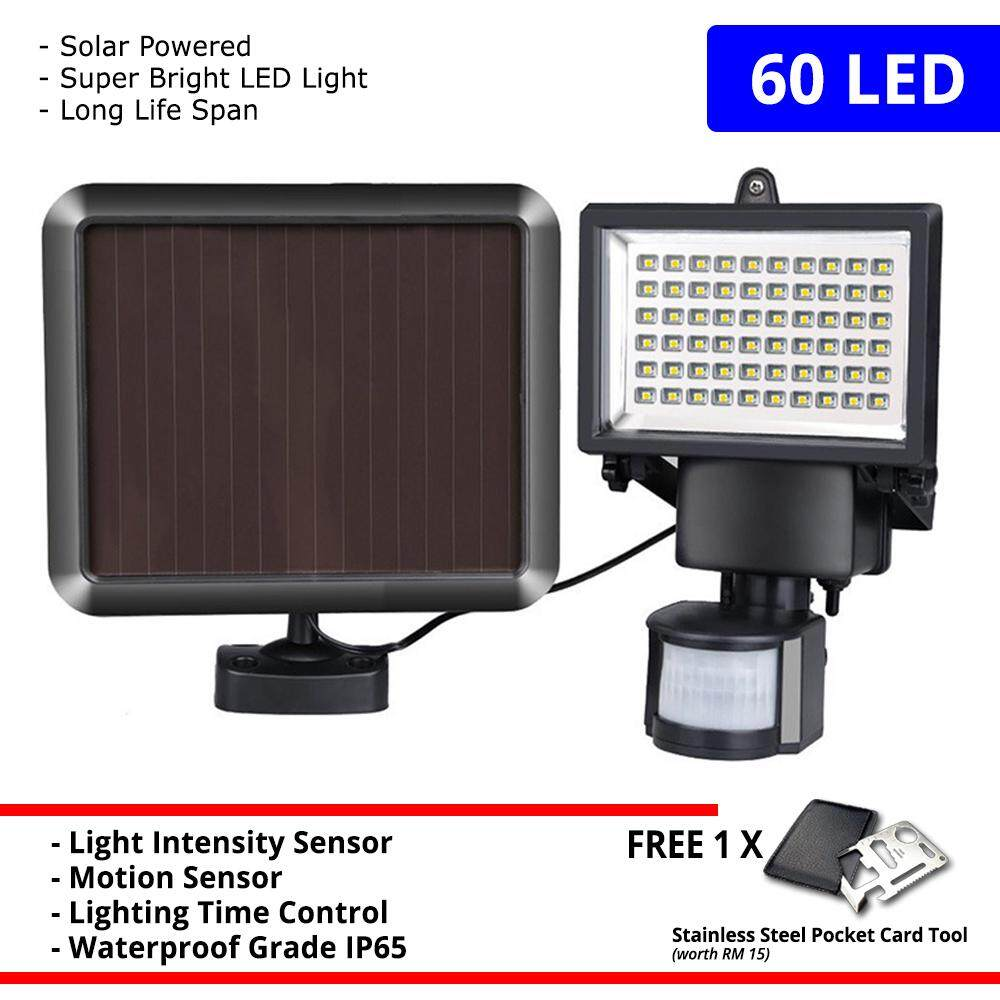 Solar Power Super Bright 60 and 100 LED PIR Security Motion Sensor Sport Light +FREE GIFT!