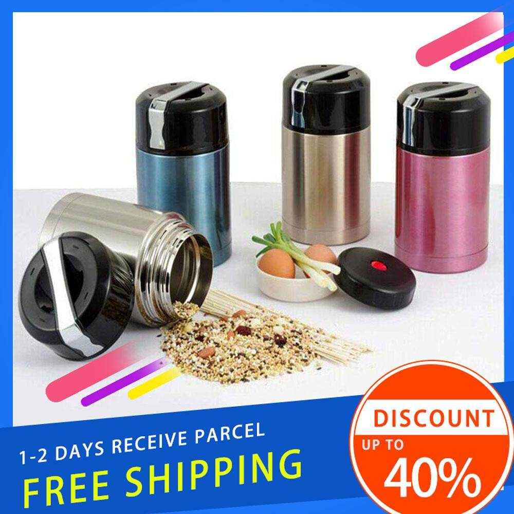 DELLY KOREA 1000ML THERMOS FOR FOOD WITH CONTAINERS STAINLESS STEEL VACUUM LUNCH BOX THERMOS FOR SOUP RICE PORRIDGE BPA-FREE SILVER LBC-S