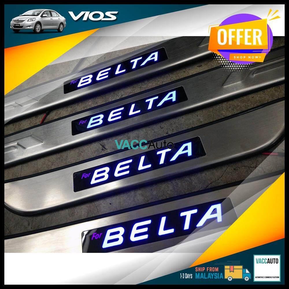 Toyota Vios 2007 - 2012 Belta LED Door Step Vacc Auto Car Accessories Exterior Car Body Protection