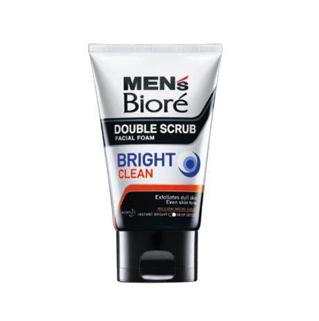 Biore Men Double Scrub Facial Foam Bright Clean 50g