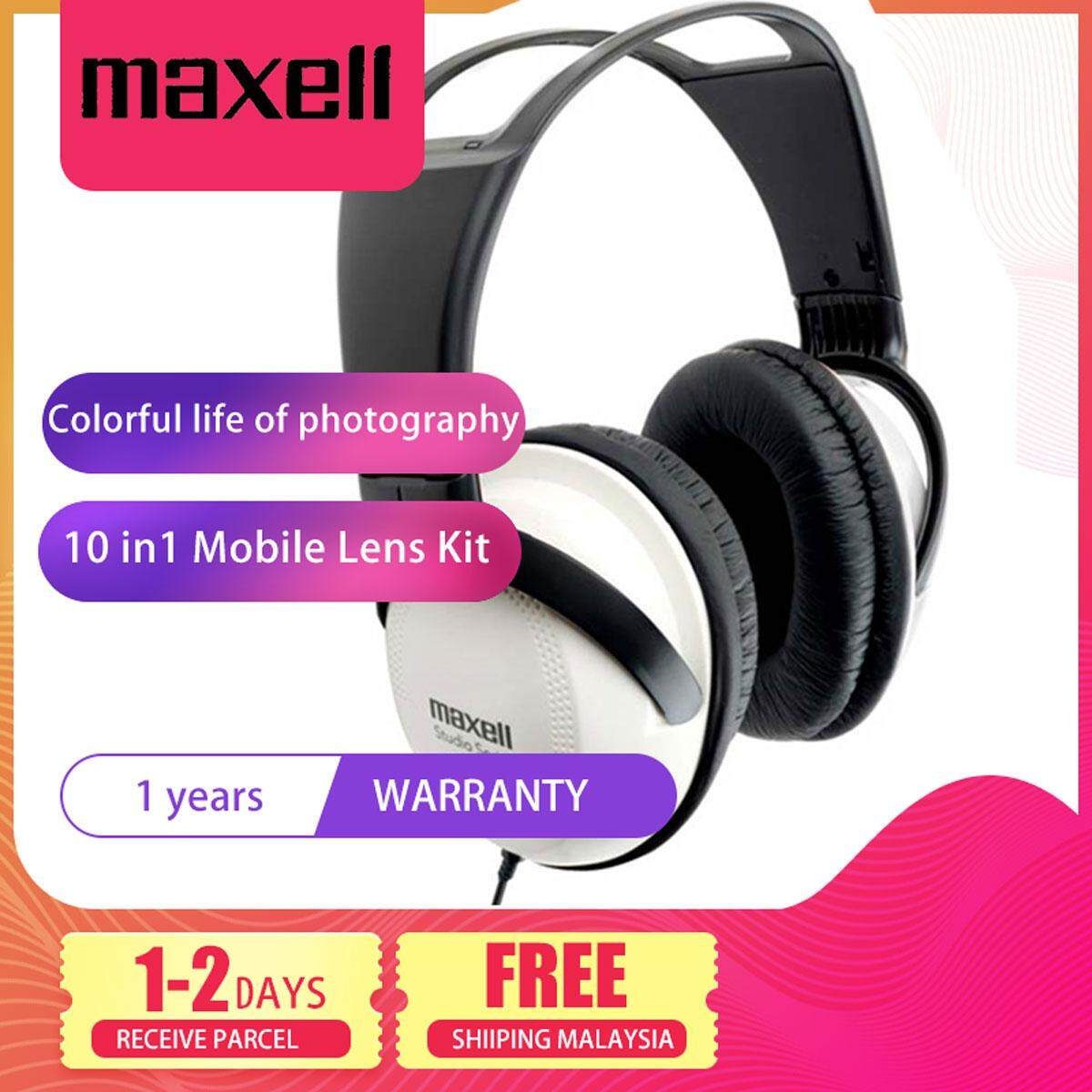 Maxell ST-2000 Studio La Full Size Headphone with Microphone White for Laptop PC Mobile Phone