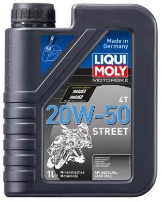 LIQUI MOLY MOTORBIKE 4T ENGINE OIL 20W-50 1L, BLACK