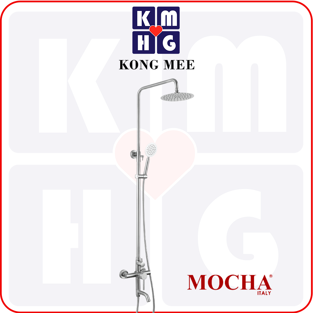Mocha Italy - 3 Functions Hand Shower with Flexible Hose & Holder (MHS1533)  High Quality Premium Handle Shower Bathroom Washroom Toilet Bath Luxury