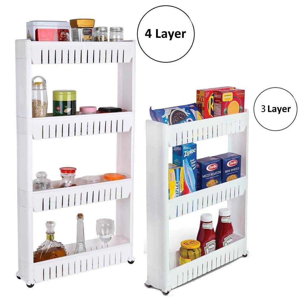 Delly Shelf Kitchen Toilet Home living Bottle Rack Trolley Slim Storage Cart Stock Ready For Sugar- DT-3L