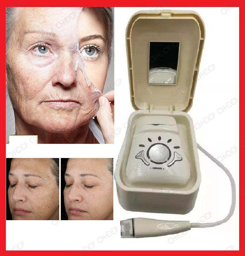Diamond Microdermabrasion & Vacuum Therapy Machine - Secret Anti Aging System Anti Wrinkle Skin Radiance Massage Dual Facial Spa Device 5 Speed