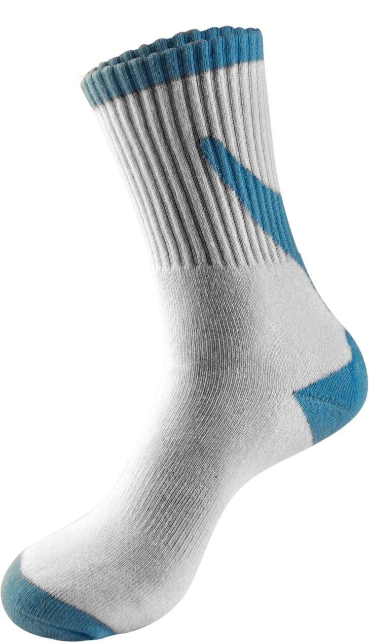Sawks Sport Bamboo Charcoal Quarter Crew Socks with Cushion Base -Plain/ PAIR