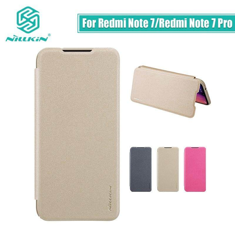 Nillkin Leather Case Sparkle Series Super Thin Flip Cover for Xiaomi Note 8 Pro
