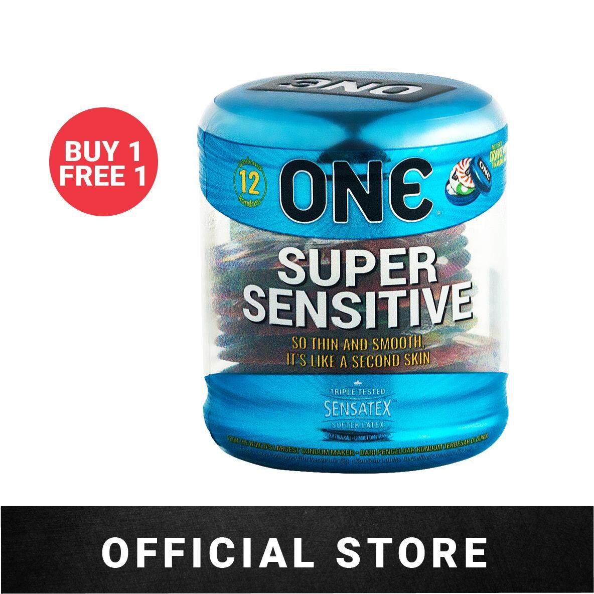 [Buy 1 Free 1] ONE Condoms Super Sensitive (12's)