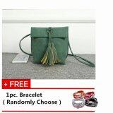Mini Tassels Packet Messenger Sling Bag [Green] with Free 1pc. Bracelet [Randomly Choose]
