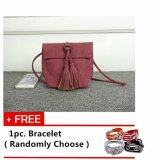 Mini Tassels Packet Messenger Sling Bag [Red] with Free 1pc. Bracelet [Randomly Choose]
