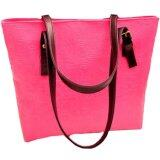 PU Leather Jazzy Tote Bag [Dark Pink]
