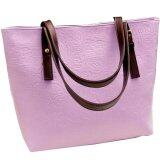 PU Leather Jazzy Tote Bag [Lavender]