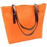 PU Leather Jazzy Tote Bag [Orange]