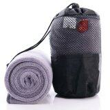 Super Smooth [100 x 30 cm] Outdoor Activities Super Smooth Microfiber Towel With Free Container Bag- Grey