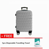 Travelling Pack: Triangle Diamond 24'' Travel Luggage [Grey] With Free 1pc Disposable Travelling Towel