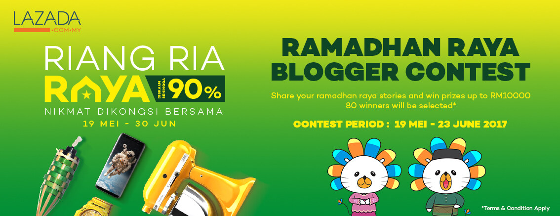 Join Lazada Ramadhan Raya Blogger Contest and Win Lazada Shopping Vouchers!