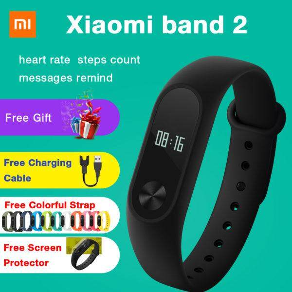 [ORIGINAL] Xiaomi Mi Band 2 (OLED) Heart Beat Touch MiBand V2 Wristband Smartwatch (FOC PROTECTOR) 100% Genuine product
