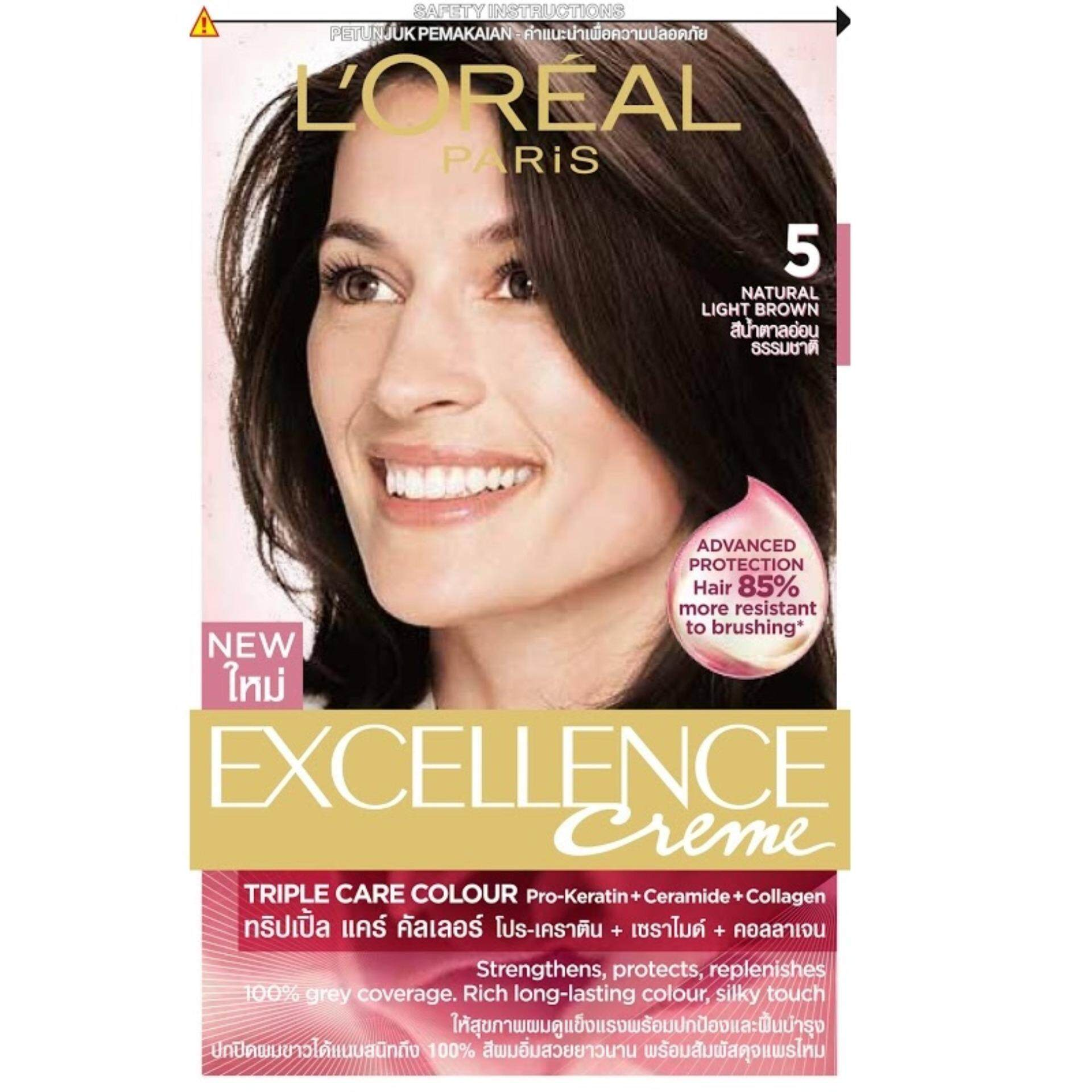 Loreal paris hair care hair coloring price in malaysia best l loreal paris excellence creme 5 natural light brown geenschuldenfo Images