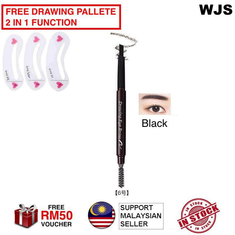 (FREE DRAWING BOARD + HALAL) WJS HALAL Eye Brow Tint Cosmetics Eyebrow Enhancer Paint Tattoo Eyebrow Pencil Waterproof Makeup Eyebrow Shadow Pencil Eye Brow Pencil Eye Brown Pen Eyebrow Dark Coffee Grey Coffee Grey Black MULTICOLOR [FREE RM 50 VOUCHER]