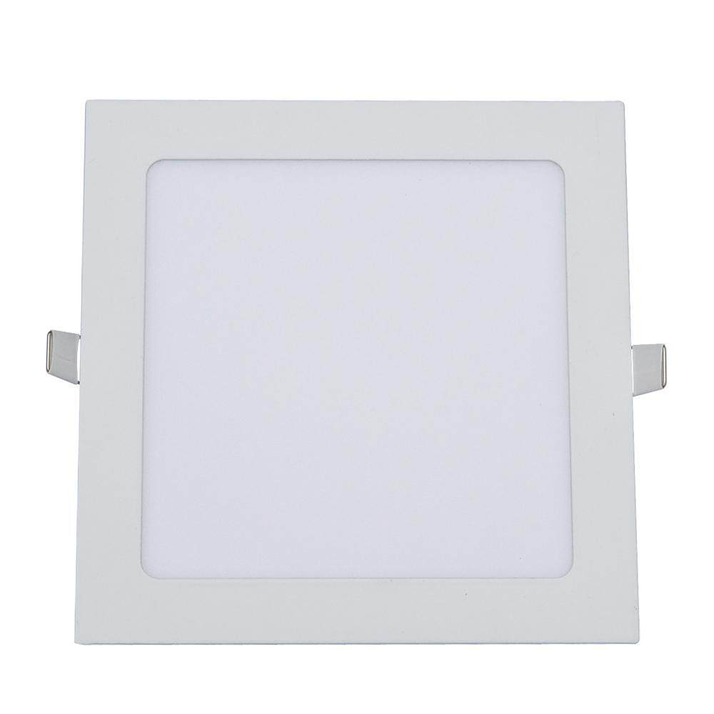 Ultra Thin 15W Recessed Ceiling Panel Lamp Down Light Square Quadrilateral Tetragonum Shape AC85-265V 75 LED for Bedroom Living Room Dining Hall Cafe Shop Home Decoration - intl