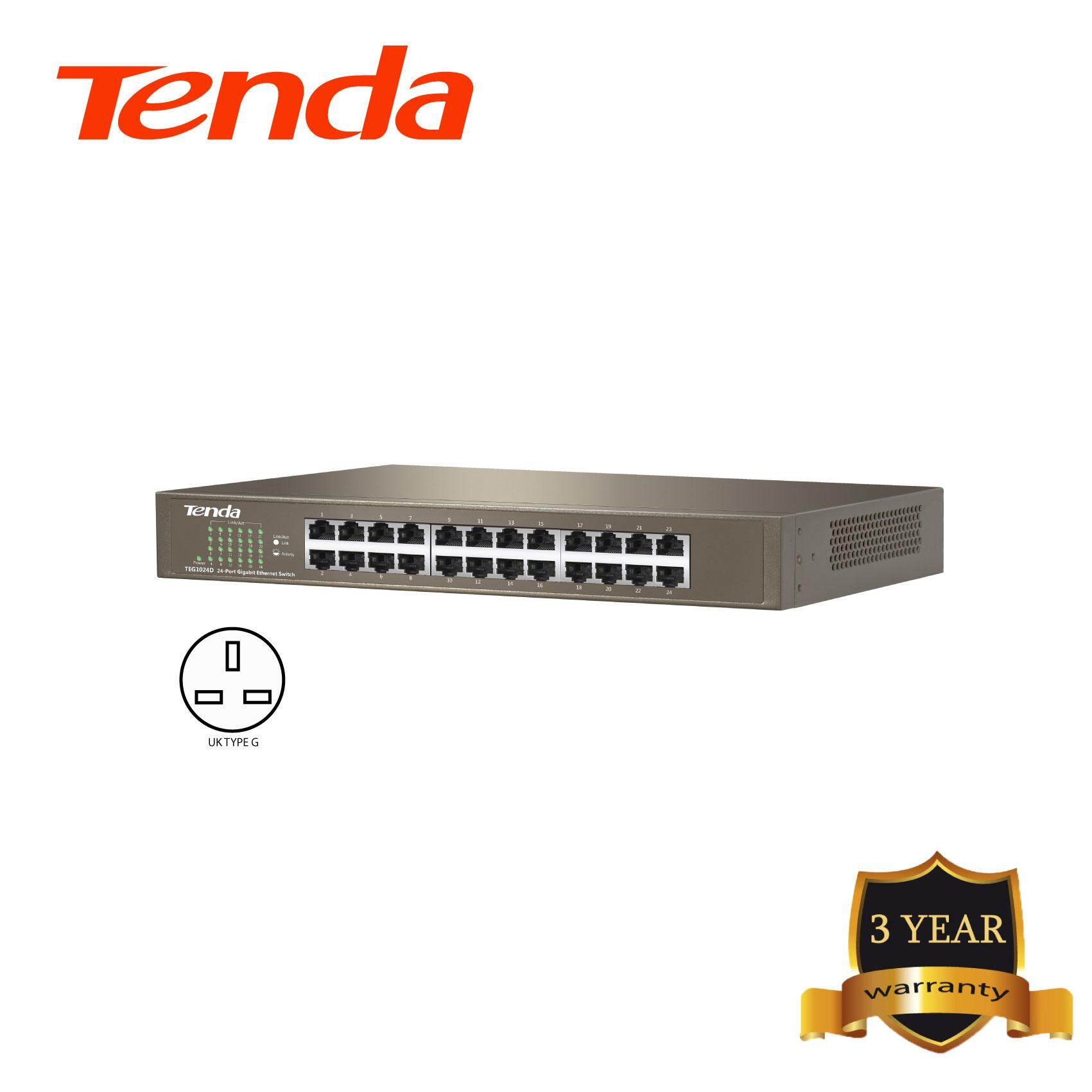 Tenda TEG1024D 24-port Gigabit Desktop/Rachmount Switch