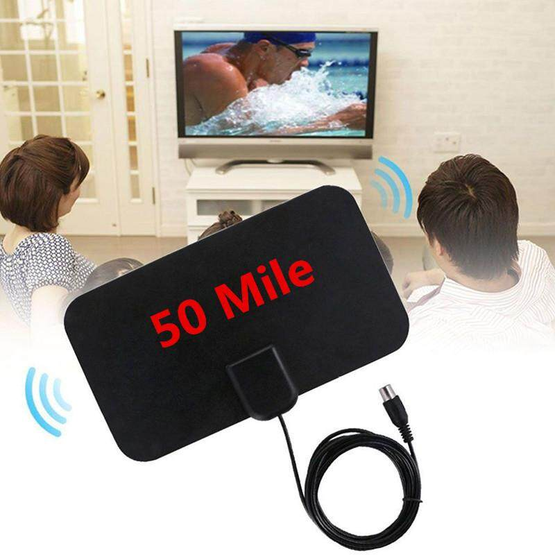 1080P HDTV Antenna with 13ft Long Cable Indoor Amplified 50-Mile Range HD Digital TV