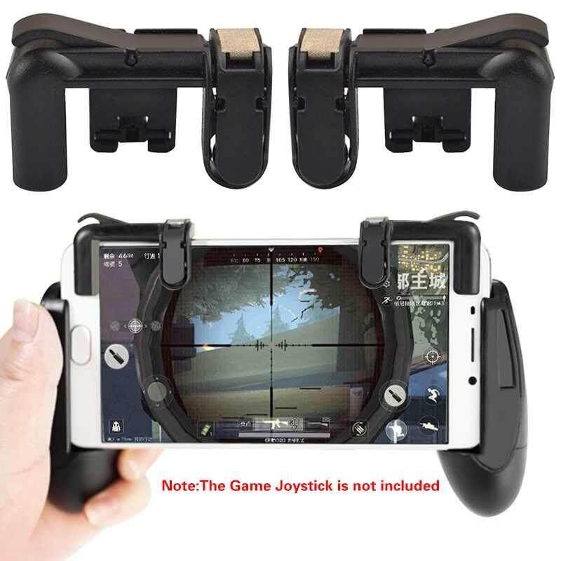 Hình ảnh Lagobuy Smartphone Chơi Game Di Động PUBG Kích Hoạt Lửa Nút Tay Cầm L1R1 Bắn Súng Điều Khiển-quốc tế