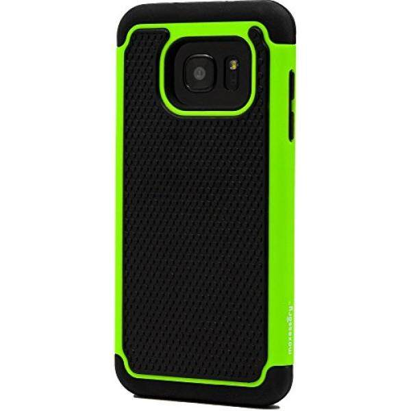 Samsung Galaxy S7 Edge Case, Maxessory [Haven] Slim Shock-Proof Rugged Tough Protector Armor Shell w/ Durable Ultra-Slim Impact Protection TPU Thin Grip Cover Green Black For Samsung Galaxy S7 Edge - intl