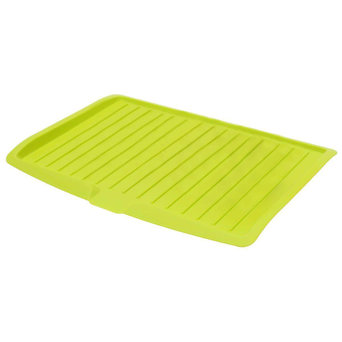 Plastic Dish Drainer Drip Tray Plate Cutlery Rack Kitchen Sink Rack Holder Large Green By Sunshineyou.