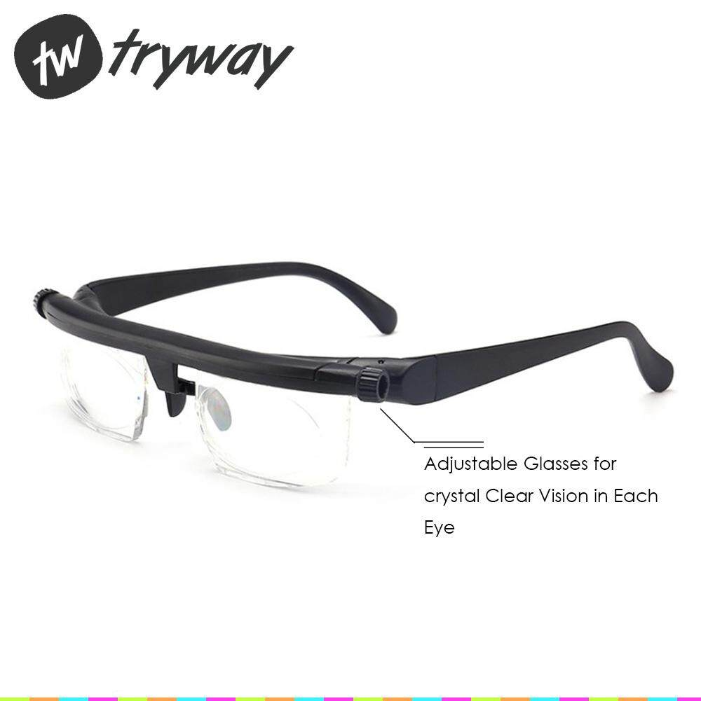 bb42ad2d38d High quality Adjustable Dial Eye Vision Reader Glasses Variable Focus Glass  For Distance Or Reading glasses