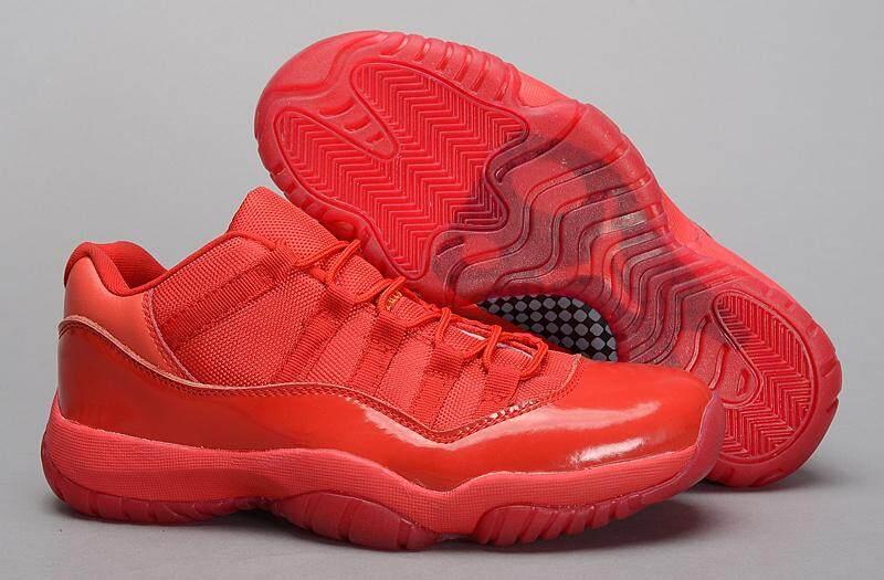 Asli Merah Semua Sepatu Pria Nike Udara Jordan Retro 11 Sepatu Dijual Nike Udara Jordan 11-Internasional