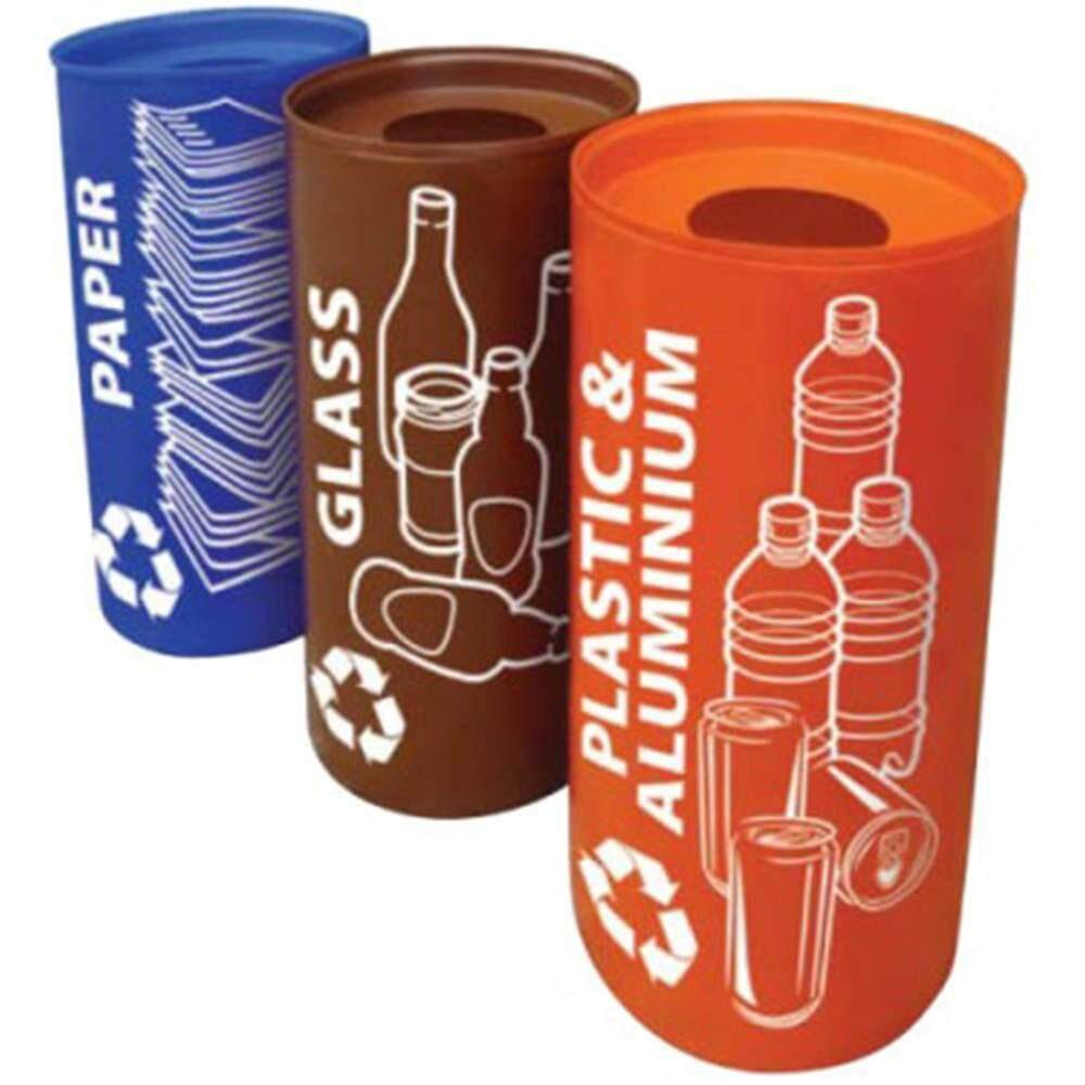 Rivershop 50Litres Olympic 50 Recycle Recycling Wastebin Dustbin Rubbish Trash for Home / Office / Restaurant / Commercial Tong Sampah Kitar Semula