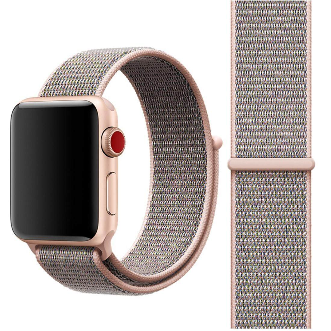 Buy For Apple Watch Series 3 2 1 42Mm Simple Fashion Nylon Watch Strap With Magic Stick Pink Intl Cheap On Hong Kong Sar China