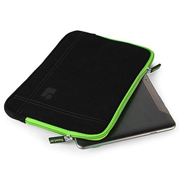 10.1 Inch Tablet Sleeve Laptop Pouch Cover Carrying Case Briefcase 10.1 Inch for Samsung Galaxy Tab A SM-T580 / Tab S3 / Huawei MediaPad M2 / MediaPad T1 10 / MediaPad 10 Link (Black/Green)