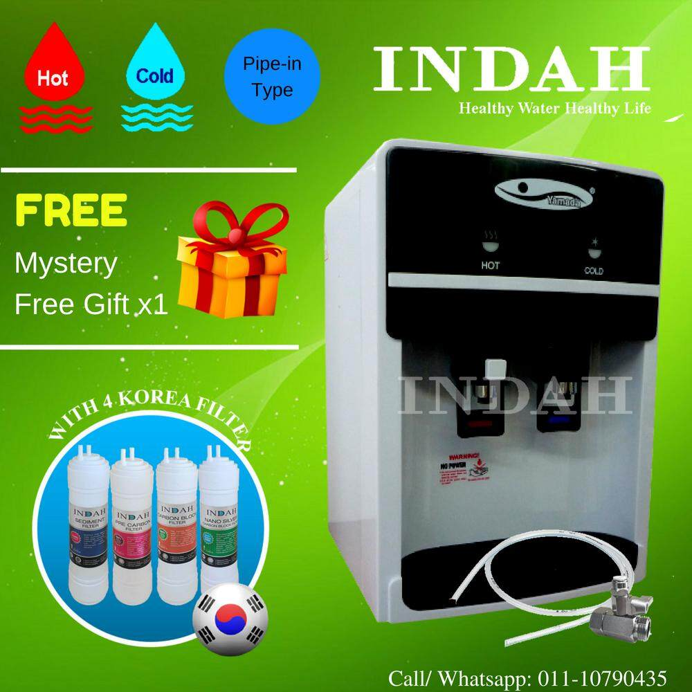 YAMADA Water Dispenser Hot & Cold Table Top 389-17 With 4 Patented Korea Water Filter