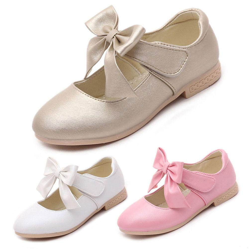 Hình ảnh Baby Girls Shoes Genuine Leather PU Leather First Walkers Soft Sole Infant Toddler Newborn Baby Girl Princes Shoes - intl